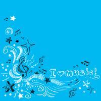 Musique doodle fond vecteur