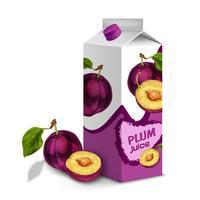 Jus de fruits prune