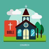Eglise Conceptuel illustration Design vecteur