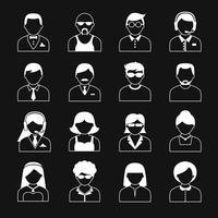 jeu d'icônes personnages avatar vecteur
