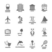 Construire des icônes de tourisme vecteur