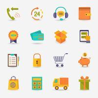 Icône de commerce électronique vecteur