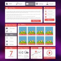 Modèle de site Web plat