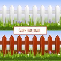Modèle de clôture de jardin vecteur