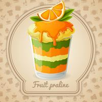 Badge praliné aux fruits
