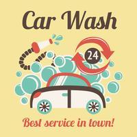Affiche de lavage de voiture vecteur