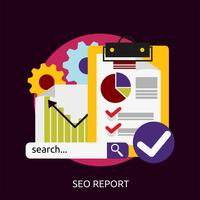Rapport SEO Illustration conceptuelle Design vecteur