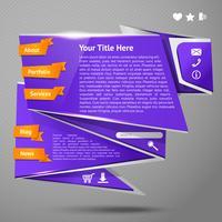 Modèle de site Web Origami
