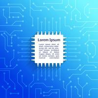 Fond de circuit imprimé bleu vecteur
