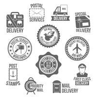 Étiquette de service postal