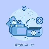 conception illustration conceptuelle de portefeuille dollar