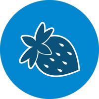 Icône de fraise de vecteur