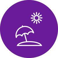 Icône de vecteur de parapluie de plage