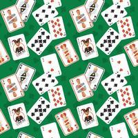 Modèle sans couture de cartes à jouer
