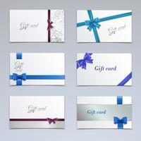 Set de cartes-cadeaux vecteur