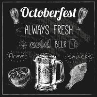 Conception de la bière Oktoberfest vecteur