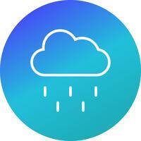 Icône de vecteur de pluie