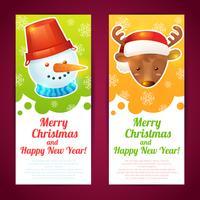Bannière de Noël verticale vecteur