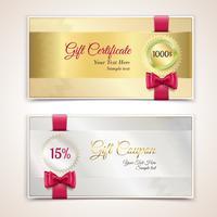 Ensemble de certificats-cadeaux