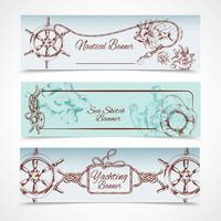 yachting banners set