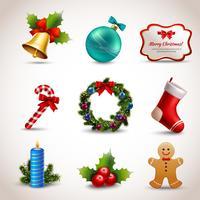 Jeu d'icônes de Noël