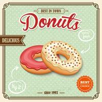 Donut affiche rétro vecteur