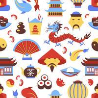 Modèle sans couture de la Chine vecteur
