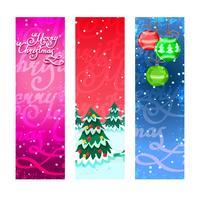Bannières de Noël verticales