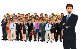 Groupe de l'équipe d'affaires vecteur