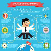 Jeu d'infographie d'affaires vecteur