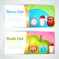 Conception de cartes de club de fitness