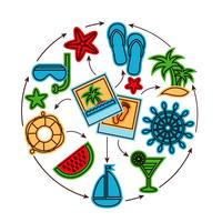 Concept de contour de vacances vecteur