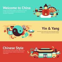 Ensemble de bannière de Chine