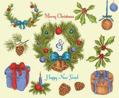 Croquis de décoration de Noël coloré