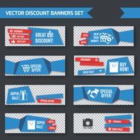 Bannières discount ensemble origami bleu vecteur