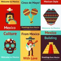 Affiche rétro du Mexique vecteur
