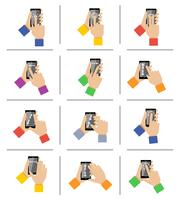 Gestes tactiles smartphone