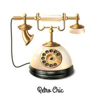 Téléphone de style rétro vecteur