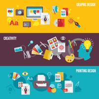 Jeu de bannière de design graphique