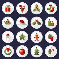 Jeu de boutons d'icônes de Noël