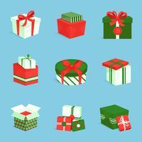 Ensemble d'icônes de boîte cadeau