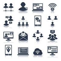 jeu d'icônes de communication