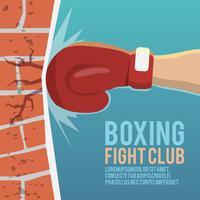 Affiche de frappe de gants de boxeur vecteur