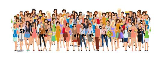 Groupe de femme vecteur