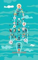 Concept de démarrage d'entreprise vecteur