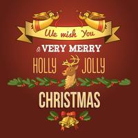 Carte d'ornement de Noël