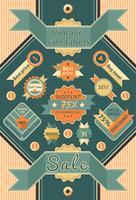 Étiquettes de vente vintage vecteur