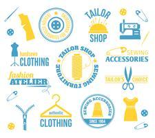 Etiquettes de matériel de couture