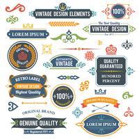 Éléments de design vintage