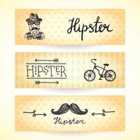 Ensemble de bannières hipster vecteur